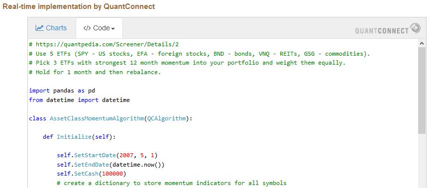 quantconnect code